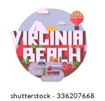 virginia beach destination...   Shutterstock .eps vector #336207668