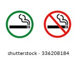 smoking and no smoking vector... | Shutterstock .eps vector #336208184
