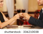 couple in love cheers at the... | Shutterstock . vector #336210038