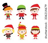 collection of cute little... | Shutterstock .eps vector #336214679