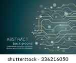 abstract technology circuit... | Shutterstock .eps vector #336216050