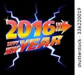 happy new year 2016 vector... | Shutterstock .eps vector #336220019