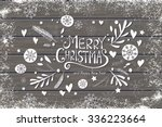 greeting card with merry...
