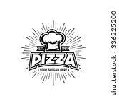 vintage pizzeria labels  badges ... | Shutterstock .eps vector #336225200
