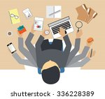 busy business people working... | Shutterstock .eps vector #336228389