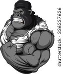 terrible gorilla athlete | Shutterstock .eps vector #336237626