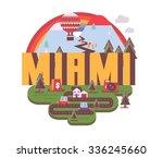 miami florida destination brand ... | Shutterstock .eps vector #336245660