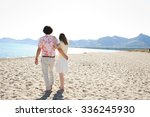 rear view of a young couple...   Shutterstock . vector #336245930