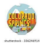 colorado spring destination...   Shutterstock .eps vector #336246914