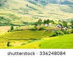 rice fields on terraced near... | Shutterstock . vector #336248084