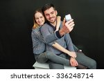young couple of handsome... | Shutterstock . vector #336248714