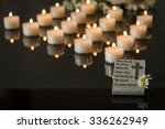card funeral black backround... | Shutterstock . vector #336262949