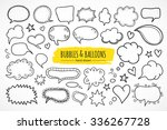hand drawn thought and speech... | Shutterstock .eps vector #336267728