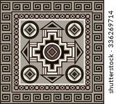 navajo art boho seamless... | Shutterstock .eps vector #336269714