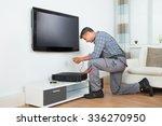 full length of male technician... | Shutterstock . vector #336270950