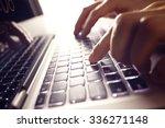 businessman using laptop... | Shutterstock . vector #336271148