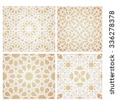 set of seamless mosaic patterns ...   Shutterstock .eps vector #336278378
