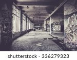 Old Abandoned Factory Hall And...