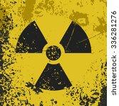 "grunge poster ""radioactive...   Shutterstock .eps vector #336281276"
