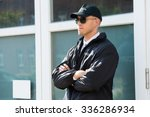young male security guard... | Shutterstock . vector #336286934