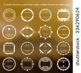 vector hipster vignettes set... | Shutterstock .eps vector #336290624
