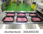 Packing Of Meat Slices In Boxe...