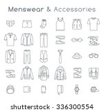 men fashion clothing and... | Shutterstock . vector #336300554