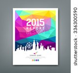 cover report colorful geometric ... | Shutterstock .eps vector #336300590