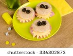 scary monster sandwiches with... | Shutterstock . vector #336302873