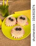 scary monster sandwiches with... | Shutterstock . vector #336302876