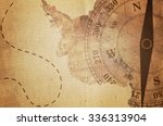 vintage travel manuscript with... | Shutterstock . vector #336313904