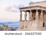 detail of erechtheion in... | Shutterstock . vector #336327530