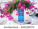 traditional greek house with... | Shutterstock . vector #336328574
