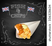 vector fish and chips  with... | Shutterstock .eps vector #336328634
