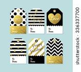 modern creative christmas gift... | Shutterstock .eps vector #336337700
