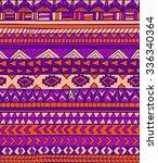 hand drawn ethnic geometric...   Shutterstock .eps vector #336340364