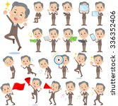 a set of old men with digital... | Shutterstock .eps vector #336352406