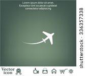 airplane symbol | Shutterstock .eps vector #336357338