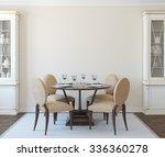 modern dining room interior.3d... | Shutterstock . vector #336360278