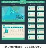 design desk calendar 2016.... | Shutterstock .eps vector #336387050