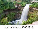 beautiful waterfall at...   Shutterstock . vector #33639211