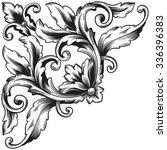 vintage baroque frame scroll...   Shutterstock .eps vector #336396383