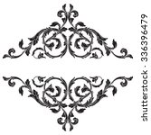vintage baroque frame scroll... | Shutterstock .eps vector #336396479