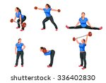 illustration of work out woman... | Shutterstock .eps vector #336402830