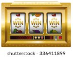 slot machine   win win win game....   Shutterstock .eps vector #336411899