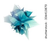 structure 3d render computer... | Shutterstock . vector #336413870
