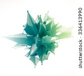 structure 3d render computer... | Shutterstock . vector #336413990