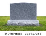 Plain Gray Granite Monument...