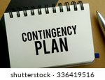 Small photo of Contingency plan memo written on a notebook with pen
