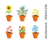 flower pots | Shutterstock .eps vector #336421256
